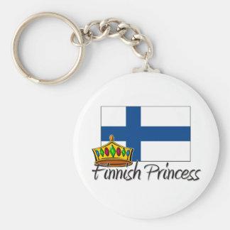 Finnish Princess Basic Round Button Key Ring
