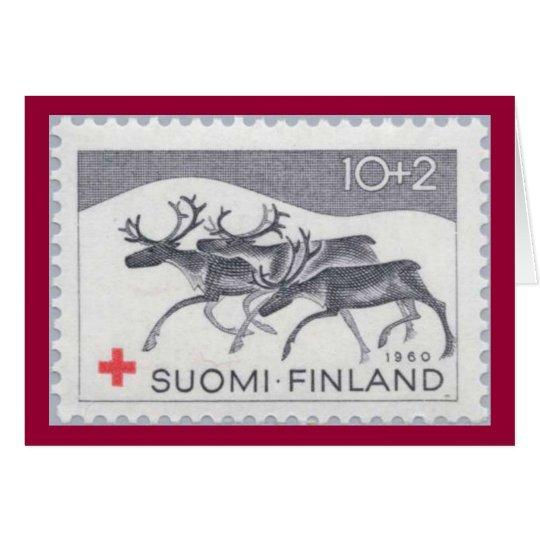 Finnish Reindeer Christmas Card