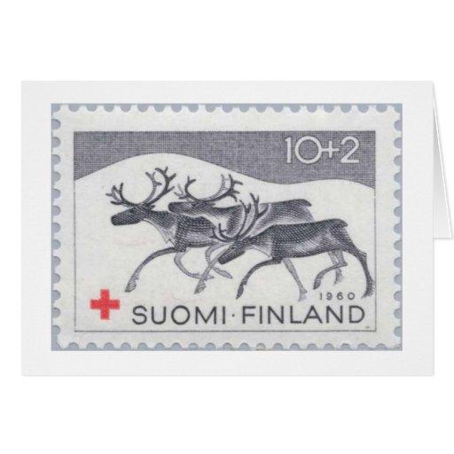 Finnish Reindeer Stamp Cards