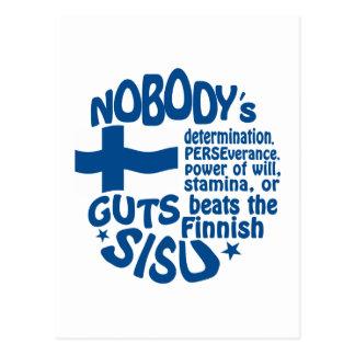 Finnish SISU postcard - customize!