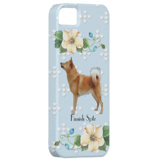 Finnish Spitz, Blue w/White Diamonds Barely There iPhone 5 Case