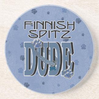 Finnish Spitz DUDE Drink Coasters