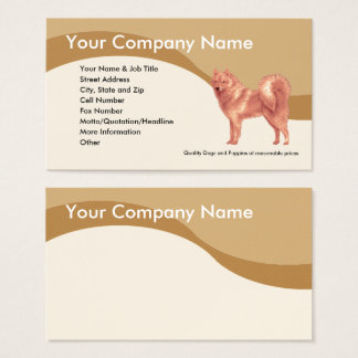 Finnish Spitz on Brown Wave Business Card