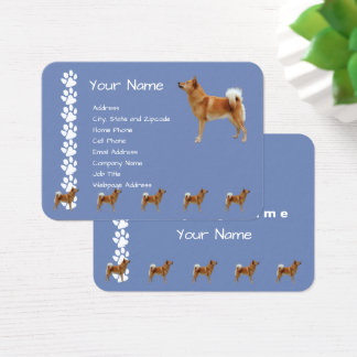 Finnish Spitz on Country Blue Business Card