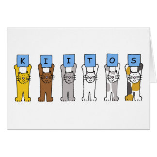 Finnish Thanks Cats Kiitos Card