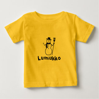 Finnish word for the snowman baby T-Shirt