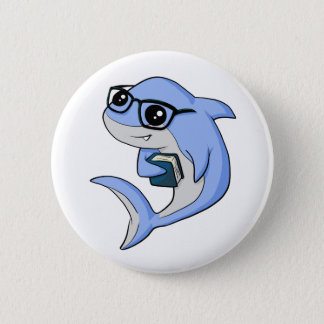 """Fintellectual"" Shark! 6 Cm Round Badge"