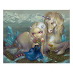 Fiona and the Unicorn ART PRINT ice fairy