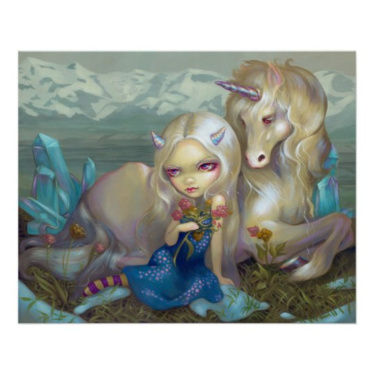 Fiona and the Unicorn ART PRINT ice fairy