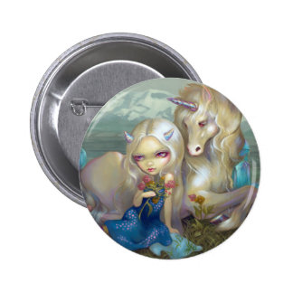 """Fiona and the Unicorn"" Button"