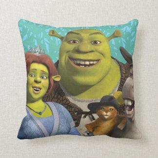 Fiona, Shrek, Puss In Boots, And Donkey Cushion