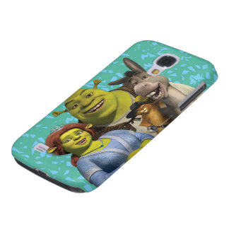 Fiona, Shrek, Puss In Boots, And Donkey Galaxy S4 Case