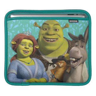 Fiona, Shrek, Puss In Boots, And Donkey iPad Sleeve