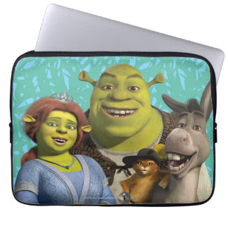 Fiona, Shrek, Puss In Boots, And Donkey Laptop Sleeve