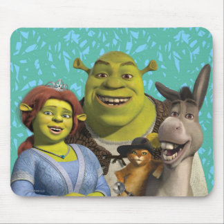 Fiona, Shrek, Puss In Boots, And Donkey Mouse Mat
