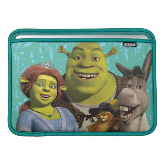 Fiona, Shrek, Puss In Boots, And Donkey Sleeve For MacBook Air