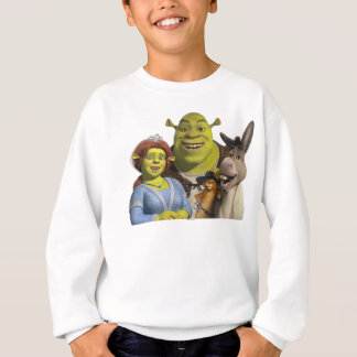 Fiona, Shrek, Puss In Boots, And Donkey Sweatshirt