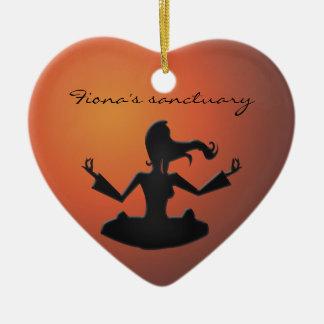 Fiona's sanctuary ceramic heart decoration