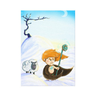 Fionn in the Snow Canvas Print