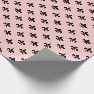 Fior the Liz Black Paris Mauve Lilac Blush Pink Wrapping Paper