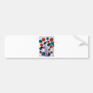 Fiore pulsante con le farfalle bumper sticker