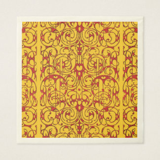Fiore red and yellow paper napkin