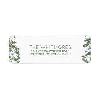 Fir Branches Winter Holiday Return Address Label