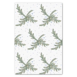 Fir Branches Winter Tissue Paper