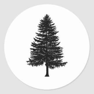 fir tree classic round sticker