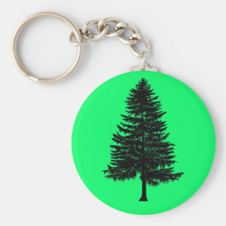 fir tree key ring