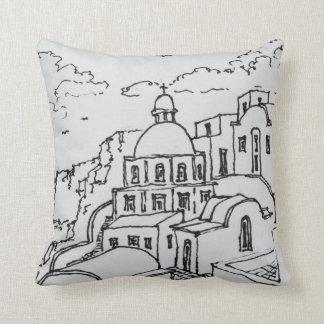 Fira, Island of Santorini, Greece Cushion