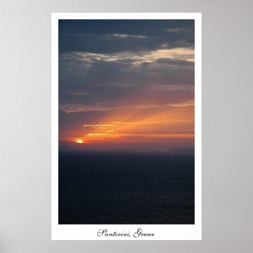 Fira Sunset Poster