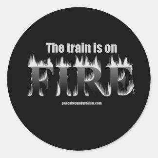 Fire 2 round sticker