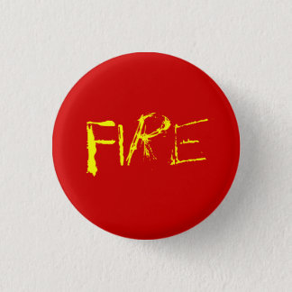 Fire 3 Cm Round Badge