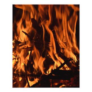 fire-432478 fire wood forest nature orange black b 11.5 cm x 14 cm flyer