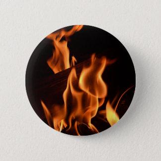 Fire 6 Cm Round Badge