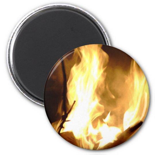 Fire 6 Cm Round Magnet