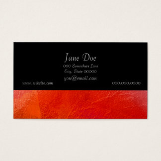 Fire - Abstract Art in Orange, Yellow, Red Business Card