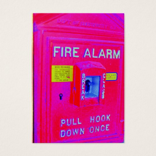 Fire Alarm Business Card