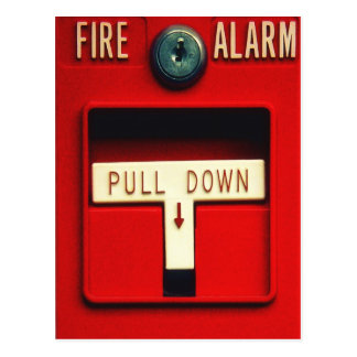 Fire alarm postcard