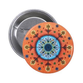 Fire Altar Mandala Pin Button