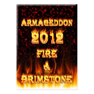 Fire and brimstone fire and red marble. pack of chubby business cards
