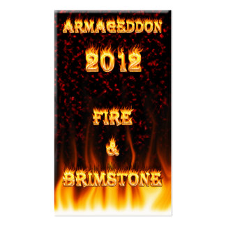 Fire and brimstone fire and red marble. pack of standard business cards