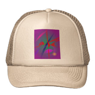 Fire and Calmness Abstract Expression Trucker Hats