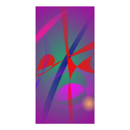 Fire and Calmness Abstract Expression Personalized Photo Card