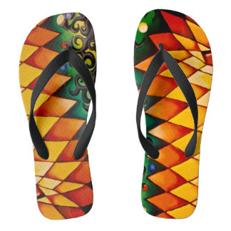 Fire and Earth Flip Flops