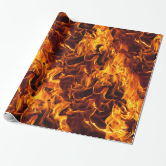 Fire and Flame Pattern Wrapping Paper