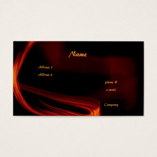 Fire and Flames Business Card
