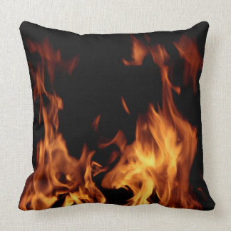 Fire and flames cushion