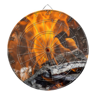 fire and flames dartboard